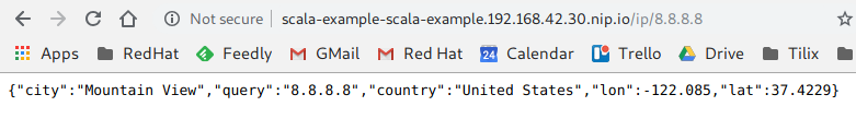 Scala Application Output